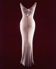 Marilyn Monroe dress - sold 1,267,000.00 in 1999. Worn by Marilyn at JFK Birthday celebration.