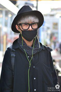 a7445c86eb1e japanese fashion man with black face mask
