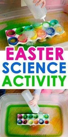 Easter Science Activity - such a fun Easter activity that kids love! This quick and easy science activity is perfect for toddlers and preschoolers. activities for kids toddlers Best Easter Science Activity Easter Activities For Toddlers, Spring Activities, Easter Crafts For Kids, Toddler Crafts, Easter Crafts For Preschoolers, Easter Games, Toddler Activity Table, Easter Ideas For Kids, Crafts Toddlers