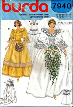 Lady Diana's Wedding Gown Dress - Burda 7940