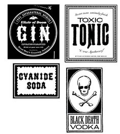 DIY Halloween clip art + templates just out from Martha Stewart. Love these printable beverage labels!
