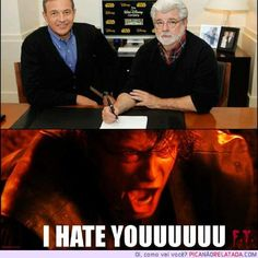 After the cancelation of The Clone Wars & the shutting down of Lucasarts, I can relate with Anakin.