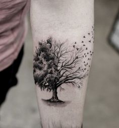 The Meaning of Life. As mentioned earlier, the tree symbolizes the bitter reality of mortality, and that is what being depicted in this tattoo.
