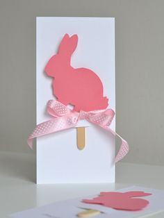 Easter Card. Shadow Puppet Easter Cards  (Two-in-one cards) on willowday.com