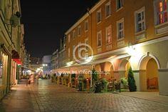 "Opole - Poland, by night! Krakowska Street, ""Pod Arkadami"" Pub"