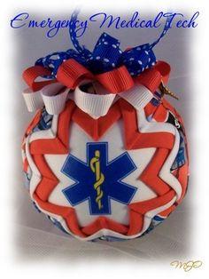 EMT/EMS Quilted Ornament-EMT EMS Emergency Medical Technician Quilted Ornament