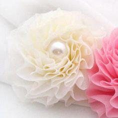 Flower Hair B& / Hair Pin / Brooch -cream