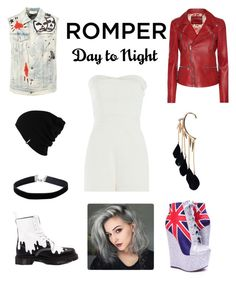 """""""Day to Night- Romper: Contest Entry"""" by haybeebaby on Polyvore featuring Tamara Mellon, Patagonia, Faith Connexion, Dr. Martens, Miss Selfridge, Gucci and Boohoo"""