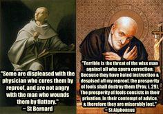 St Bernard & St Alphonsus on correction www.religiousbookshelf.org