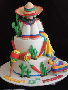 Mexican birthday cake