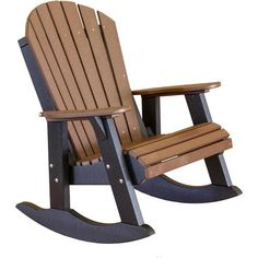 Wildridge Recycled Plastic Heritage High Fan Back Rocking Chair - Rocking Furniture