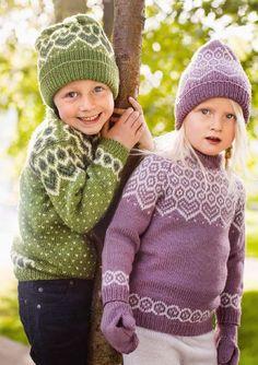 kids' Norwegian sweater knitting patterns from Dale Garn Book 320