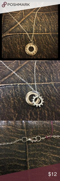 Recycled Car Part Jewelry!  This Washer necklace❤️ Recycled Car Part Jewelry!  This Washer necklace❤️ Made from a link chain, one Finishing Washer and one Lock Washer as a pendent and a claw clasp. Torque by Jennifer  Jewelry Necklaces