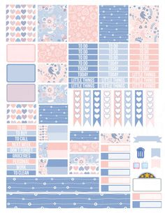 Printable Planner Stickers Spring Birds Erin by LaceAndLogos