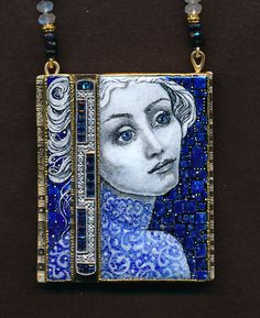 Dreamer....    With antique diamond and sapphire pin.
