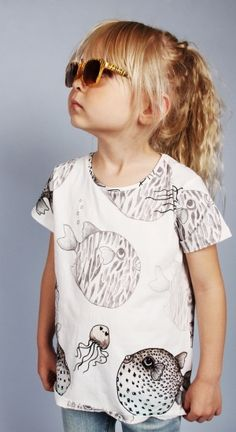 Mini Rodini zomer 2013 - Great fish print by  Cassandra Rhodin.