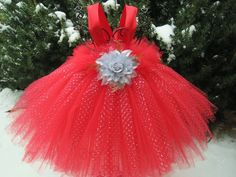 Tutu Dresses and Accessories for Babies and Toddlers by ElsaSieron Flower Girl Gown, Flower Girls, Birthday Tutu, Glitter Birthday, Red Tutu, Ruby Wedding, Tutu Costumes, Glitter Dress, Silver Dress