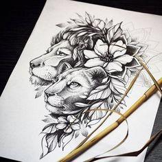 dessins de tatouage 2019 by - Tattoo Designs Photo Tattoo Sketches, Tattoo Drawings, Body Art Tattoos, Sleeve Tattoos, Tattoos Skull, Small Tattoos, Flower Tattoo Designs, Flower Tattoos, Lion Tattoo With Flowers