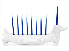 I'm not Jewish, but if I was...this would be my candle holder (i apologize for not knowing the proper name). Hanukkah