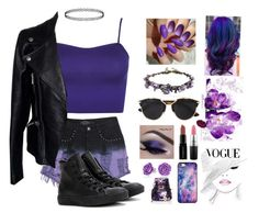 """Midnight Purple"" by artzylyfe ❤ liked on Polyvore featuring WearAll, Evil Twin, Alexander McQueen, Converse, Christian Dior, Bling Jewelry, Smashbox, MAC Cosmetics, Winky Lux and BlissfulCASE"