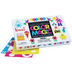 Color Magic Greeting Card Kit allows hands-on creative play while teaching color theory