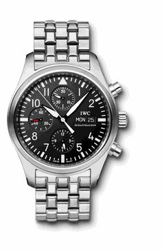 Ref.: IW371704   Pilots Watch Classic Chronograph Automatic Steel Black Numbers Steel