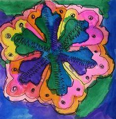 Artsonia Art Gallery - Winter color & line design, 6