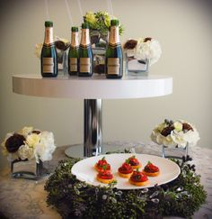 Balsmic Strawberry & Basil Caviar & Champagne, perfect combo for your holiday open house!