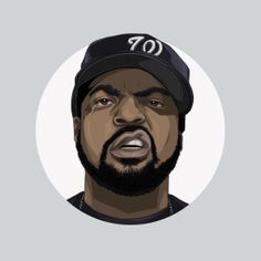 Hip-hop Heads Illustration - Ice Cube