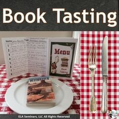 Book and Text-Tasting Menus help students read fiction and nonfiction pieces…