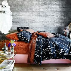 Kip & Co / photographed by  Armelle Habib. styled by Julia Green and Amber Leanette. via Miss Moss #bedding