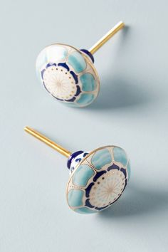 Seed Pod Knobs, Set of 2 by Anthropologie in Blue, Knobs Dresser Knobs And Pulls, Knobs And Handles, Cabinet Knobs, Drawer Pulls, Door Knobs, Knobs For Dressers, Dresser Drawers, Kitchen Knobs, Kitchen Decor