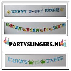 Verjaardagsslingers allemaal naar eigen wens gemaakt