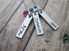 Name+Pendant+personalized+hand+stamped+por+ChristinesImpression,+$29.00