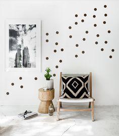 KONFETTI DOTS 40er Set Wandsticker Punkte a 5cm - ein DIY Wandtattoo Designerstück von UrbanARTBerlin bei DaWanda