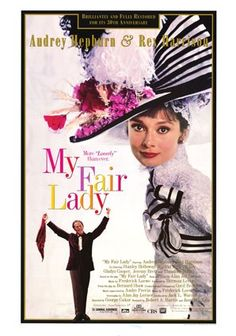 """For Sale on - Original 1994 re-release U. one sheet poster by Cecil Beaton for the 1964 film """"My Fair Lady"""" directed by George Cukor with Audrey Hepburn / Rex Harrison My Fair Lady, Classic Movie Posters, Classic Movies, Love Movie, Movie Tv, Movie List, Movie Shelf, Picture Movie, Film Musical"""