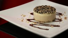 Espresso parfait with sesame seed wafer — I particularly like the wafer idea Frozen Desserts, Vegan Desserts, Breakfast Recipes, Dessert Recipes, Dessert Ideas, Dinner Party Desserts, My Kitchen Rules, Latest Recipe, Cake Plates
