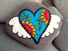 Fairy Tale Heart / Painted Stone / Sandi Pike by LoveFromCapeCod
