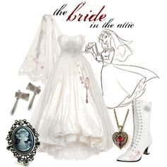"""""""Haunted Mansion: the bride in the attic"""" by princesschandler on Polyvore"""