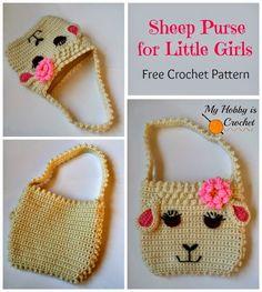 My Hobby Is Crochet: Darling Sheep Crochet Purse for Little Girls | Free Pattern | My Hobby is Crochet