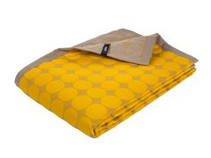 Golden Yellow Baby Dot bed quilt by HAY