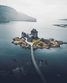Eilean Donan Castle overlooks the Isle of Skye, at the point where three great sea-lochs meet. Image by @_marcelsiebert via @castlesofscotland / Instagram