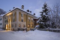 Situated in the idyllic village of Bever, in Switzerland's Upper Engadin, Chesa Salis is an award-winning historic hotel filled with old-world charm and handsome architectural features.