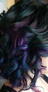 Image result for oil slick hair asian