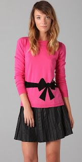 Milly bow sweater in pink!