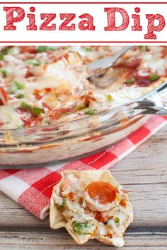 Pizza Dip Always a hit! Easy appetizer recipe for a party, potluck, holiday or game day. This hot pizza dip with cream cheese and sour cream is a crowd favorite! Pepperoni pizza dip is baked and served warm as a chip dip or with bread. Pizza Appetizers, Easy Appetizer Recipes, Easy Snacks, Appetizers For Party, Pizza Snacks, Pizza Dip Recipes, Party Dips, Easy Dip Recipes, Hot Snacks