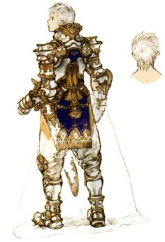 Week 12 - Final Fantasy XII - Concept Art Mon - Prince Rasler Concept, Backside