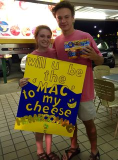 "Homecoming proposal. Her name is ""Mackenzie"" but he calls her ""Mac""."