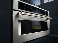 KitchenAid Built In Microwave Oven With Convection Cooking   Stainless Steel