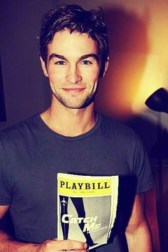 Chace Crawford supporting Aaron Tveit